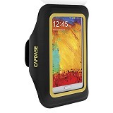 CAPDASE Universal Sports Armband Case Zonic Plus 155A - Black/Yellow - Arm Band / Wrist Strap Handphone