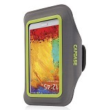 CAPDASE Universal Sports Armband Case Zonic Plus 155A - Grey/Green - Arm Band / Wrist Strap Handphone