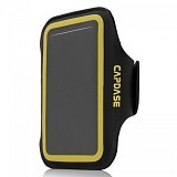 CAPDASE Zonic Plus 126A Sports Armband [AB00P126A-131E] - Black Yellow - Arm Band / Wrist Strap Handphone