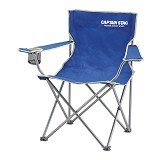CAPTAIN STAG Folding Lounge Chair - Blue (Merchant) - Outdoor Compact Chair