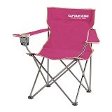 CAPTAIN STAG Folding Lounge Chair - Pink (Merchant) - Outdoor Compact Chair