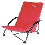 CAPTAIN STAG Folding Low Style Chair - Red (Merchant) - Outdoor Compact Chair