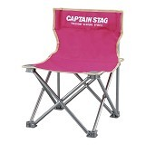 CAPTAIN STAG Folding Mini Chair - Pink (Merchant) - Outdoor Compact Chair