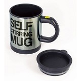 CCC Self Stirring Mug Gelas Aduk Otomatis - Black (Merchant) - Gelas