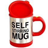 CCC Self Stirring Mug Gelas Aduk Otomatis - Red (Merchant) - Gelas