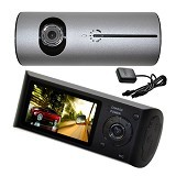 CCTV21 Car DVR Full HD Dual Camera [CMR300] - Black (Merchant)