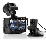 CCTV21 HD-720P Car DVR With Reversing Rear View - Black (Merchant) - Cctv Camera
