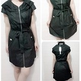 CECECICIKU HOUSE Dress Korea [CD-355] - Hitam - Mini Dress Wanita