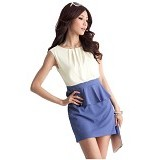 CECECICIKU HOUSE Dress Span Import [CD-266] - Biru - Mini Dress Wanita