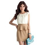 CECECICIKU HOUSE Dress Span Import [CD-266] - Coklat Tua - Mini Dress Wanita