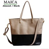 CEVIRO Maica - Almond/Black - Shoulder Bag Wanita