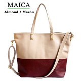 CEVIRO Maica - Almond/Maroon - Shoulder Bag Wanita
