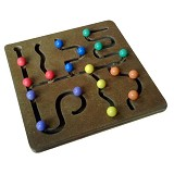 CHERIE TOYS Maze Bola Warna - Wooden Toy