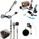 CHOKY RESISTOR EST.2016 Paket Mic Condenser + Headset Stand Karoke, Chating, Video Call Smule (Merchant) - Microphone System