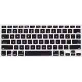 CITY COMP Silicone Keyboard Protector for Macbook - Black(Merchant) - Keyboard Cover Protector