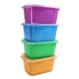 CLARIS Kotak Penyimpanan Makanan RC Foodsaver 1350ml Set 4 - Mix Color - Lunch Box / Kotak Makan / Rantang