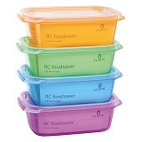 CLARIS Kotak Penyimpanan Makanan RC Foodsaver 750ml Set 4 - Mix Color - Lunch Box / Kotak Makan / Rantang