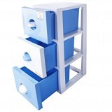 CLARIS Laci 3 Susun Duo Cabinet - Biru - Drawer