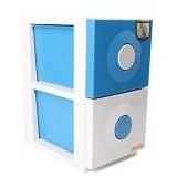 CLARIS Laci Susun Duo Cabinet - Biru - Drawer