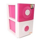 CLARIS Laci Susun Duo Cabinet - Pink - Drawer