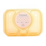 CLARIS Tempat Penyimpanan Makanan Foodsaver 1100ml - Orange - Lunch Box / Kotak Makan / Rantang