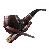 CLASSIC Wooden Enchase Carved Smoking Pipes (Merchant) - Vape & Shisha