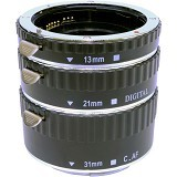 COMMLITE Metal AF Macro Extension Tube Canon (Merchant) - Camera Extension Tube and Reversing Ring
