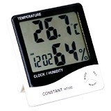 CONSTANT Temperature and Humidity Meter with Clock [HT100] (Merchant) - Alat Ukur Kelembaban