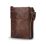 CONTACTS Short Contacts Wallet - Brown (Merchant) - Dompet Pria