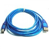 COPARTNER Kabel USB Printer 3M -  Biru Transparant - Cable / Connector Usb