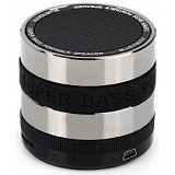 CSI S302 Speaker Bluetooth Mini Metal Super Bass Portable [CSI-AUSK01BK] - Black - Speaker Bluetooth & Wireless