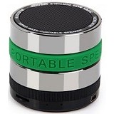 CSI S302 Speaker Bluetooth Mini Metal Super Bass Portable [CSI-AUSK01GR] - Green - Speaker Bluetooth & Wireless
