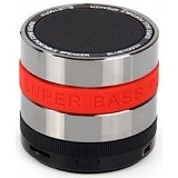 CSI S302 Speaker Bluetooth Mini Metal Super Bass Portable [CSI-AUSK01RE] - Red - Speaker Bluetooth & Wireless