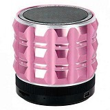 CSI Speaker Bluetooth Mini Metal Super Bass [BTA34] - Pink (Merchant) - Speaker Portable
