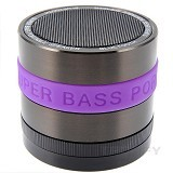 CSI Speaker Bluetooth Mini Metal Super Bass Portable [S302] - Puprle (Merchant) - Speaker Portable