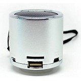 CSI Z12 Speaker Support MicroSD Card USB Flash Disk dan FM Radio [CSI-AUSK04SV] - Silver - Speaker Portable