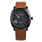 CURREN Casual Military Watch For Men [8139] - Black - Jam Tangan Pria Casual
