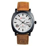 CURREN Casual Military Watch For Men [8139] - White - Jam Tangan Pria Casual