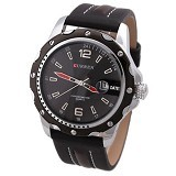 CURREN Casual Style Watch For Men [8104] - Full Black - Jam Tangan Pria Casual