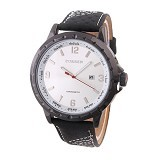 CURREN Casual Style Watch For Men [8120] - Black White - Jam Tangan Pria Casual