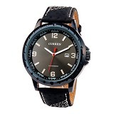 CURREN Casual Style Watch For Men [8120] - Full Black - Jam Tangan Pria Casual