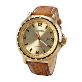 CURREN Casual Style Watch For Men [8120] - Gold - Jam Tangan Pria Casual