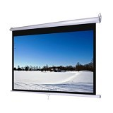 D-LIGHT Manual Pull Down Wall Screen 84 inch [MWSDL2121L] - Proyektor Screen Manual Pull Down