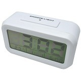DAIKAZERA SHOP Digital Liquid Crystal Desktop Smart Clock - White (Merchant)