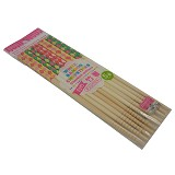 DAISO JAPAN PRODUCTS White Bamboo Chopsticks Checked Pattern (V) - Sumpit