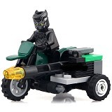DECOOL Bricks 7010 Black Panther Motorcycle [305002572] (Merchant) - Building Set Occupation
