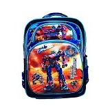 DEERDE Ransel 5D Transformer Optimus 5 Rits - Blue - Tas Anak
