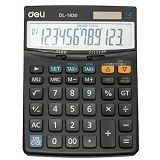 DELI Calculator with Check Function [1630] - Kalkulator Office / Pocket