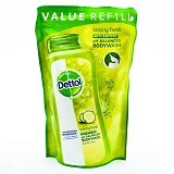 DETTOL Body Wash Liquid Pouch Lasting Fresh 450ml - Sabun Mandi