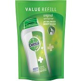 DETTOL Body Wash Liquid Pouch Original 450ml - Sabun Mandi